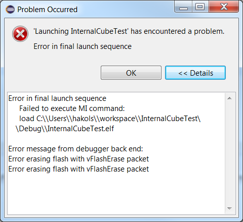OpenSTM32 Community Site | Can't flash STM32L476